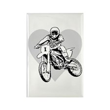 I love dirt biking with a heart Rectangle Magnet