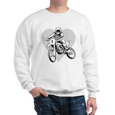 I love dirt biking with a heart Sweatshirt