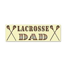 Lacrosse Dad, Steampunk Style Car Magnet 10 x 3