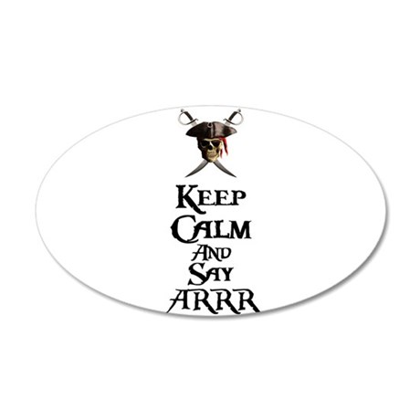 Keep Calm Say ARRR Wall Decal