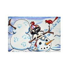 Schanzuer Snow Day Rectangle Magnet