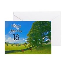 18th Birthday card with landscape Greeting Card