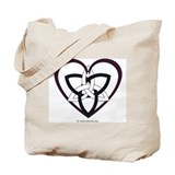 Triquatra Heart Tote Bag