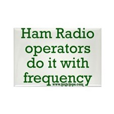 Ham Radio Ops Do It (Green) Rectangle Magnet