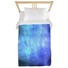 Blue Space Stars Twin Duvet