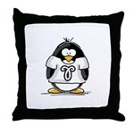 Aries Penguin Throw Pillow