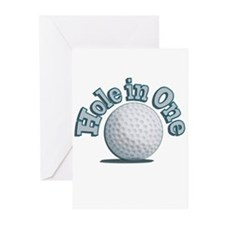 Hole in One (txt) Greeting Cards (Pk of 20)