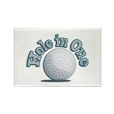 Hole in One (txt) Rectangle Magnet (100 pack)