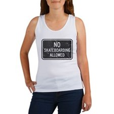 No Skateboarding Sign Tank Top