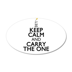 Keep Calm Math Wall Decal