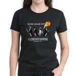 Penguins with Weapons Women's Dark T-Shirt