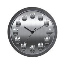 Sign Language -Steel Wall Clock