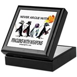 Penguins with Weapons Keepsake Box