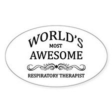 World's Most Awesome Respiratory Therapist Decal