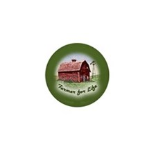 Farmer for Life Mini Button