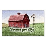 Farmer for Life Rectangle Decal