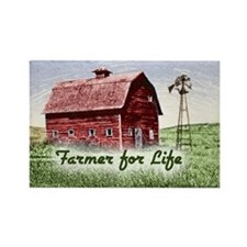 Farmer for Life Rectangle Magnet