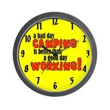 Bad Day Camping Wall Clock