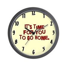 Time To Go Home Wall Clock