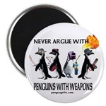 Penguins with Weapons Magnet