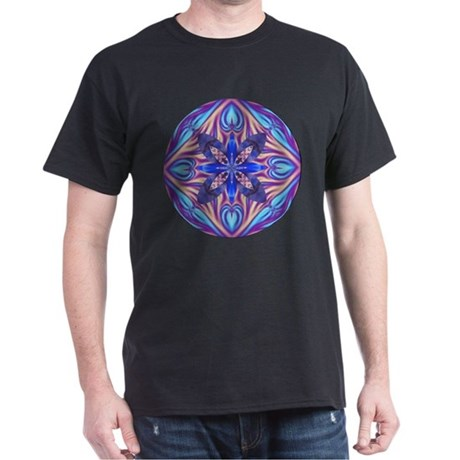 Kaleidoscope Fractal Dark T-Shirt
