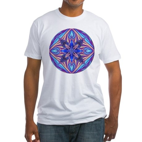 Kaleidoscope Fractal Fitted T-Shirt