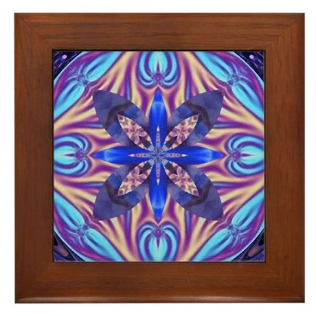 Kaleidoscope Fractal Framed Tile