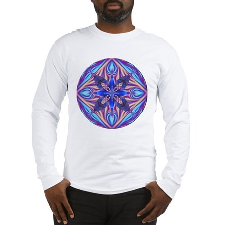 Kaleidoscope Fractal Long Sleeve T-Shirt