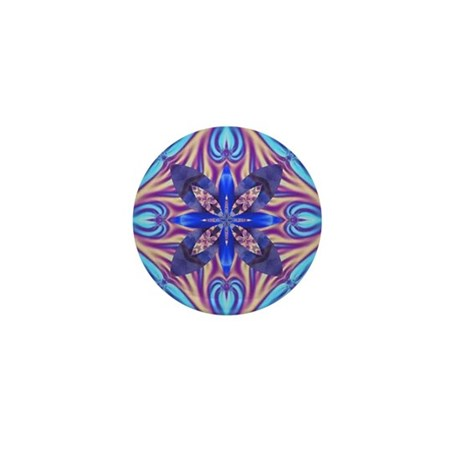 Kaleidoscope Fractal Mini Button (10 pack)