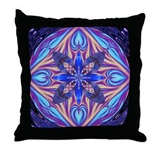 Kaleidoscope Fractal Throw Pillow