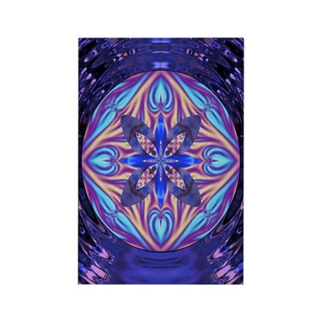 Kaleidoscope Fractal Rectangle Magnet (100 pack)