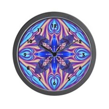Kaleidoscope Fractal Wall Clock