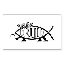 Druid Fish Rectangle Decal