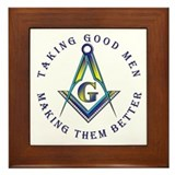 Masonic Taking Good Men Framed Tile