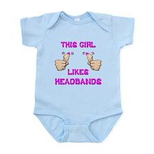 This Girl Likes Headbands Infant Bodysuit