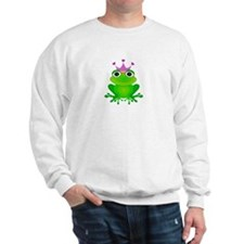 Purple Crown Frog Prince Sweatshirt