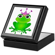 Purple Crown Frog Prince Keepsake Box