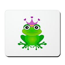 Purple Crown Frog Prince Mousepad