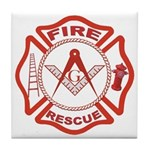 Masonic Fire and Rescue Tile Coaster