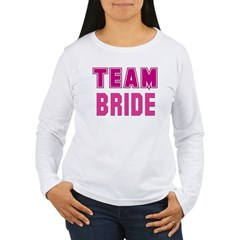 collegiate team bride t-shirt