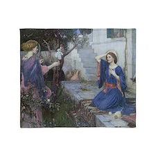 Annunciation by JW Waterhouse Throw Blanket
