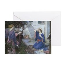 Annunciation by JW Waterhouse Greeting Card