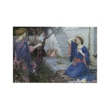 Annunciation by JW Waterhouse Rectangle Magnet