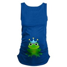 Blue Crown Frog Prince Maternity Tank Top
