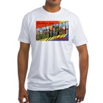 Shreveport Louisiana Greetings (Front) Fitted T-Sh