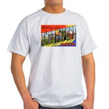 Shreveport Louisiana Greetings (Front) Ash Grey T-