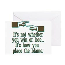 Funny Win or Lose Greeting Card