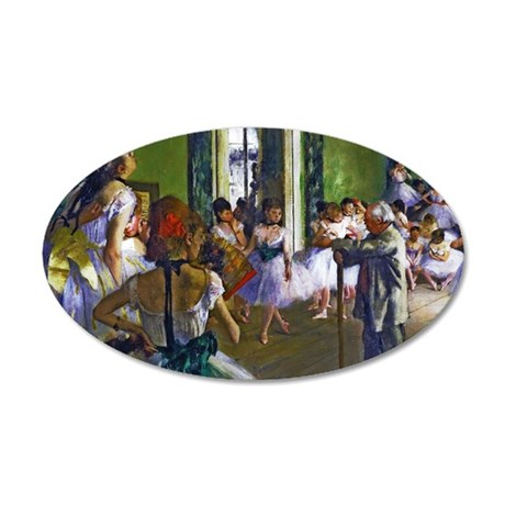 Degas - The Ballet Class 35x21 Oval Wall Decal