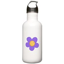 Purple Flower Water Bottle