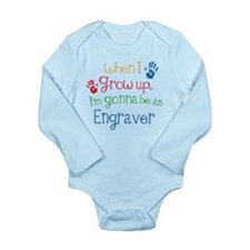 Future Engraver Long Sleeve Infant Bodysuit